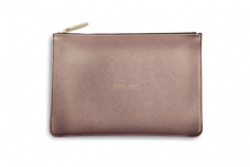 Katie Loxton BE BRILLIANT Perfect Pouch Clutch Bag - Metallic Rose Gold
